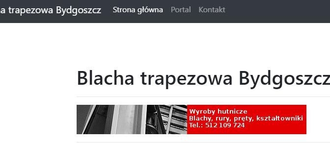 Blacha trapezowa Bydgoszcz – serwis